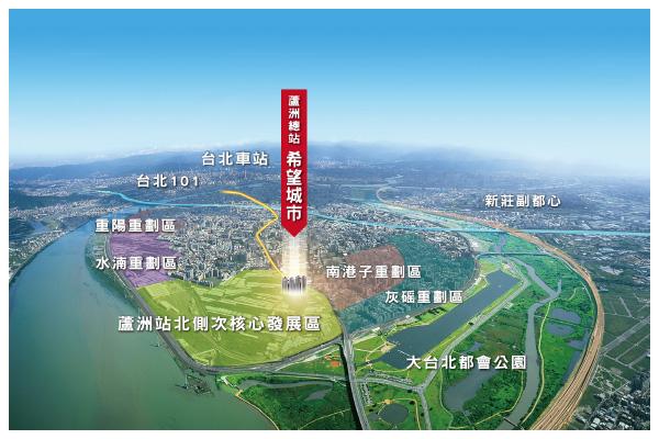 蘆洲五大重劃正核心 空拍圖